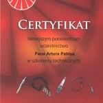 Certyfikat NGK